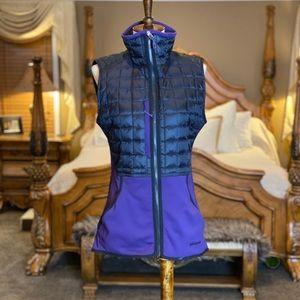 Patagonia Purple & Black Polartec Down Vest Size S